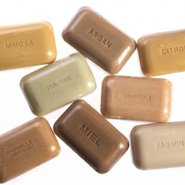 La Perle, made in Provence using natural scents and pigments from the earth to colour their soaps. Argan oil, is a well known oil which helps promote good skin health.
